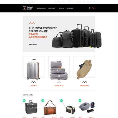 Travel Gear Magento Theme (Magento theme for travel sites) Item Picture