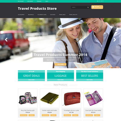 Travel Products Magento Theme (Magento theme for travel sites) Item Picture