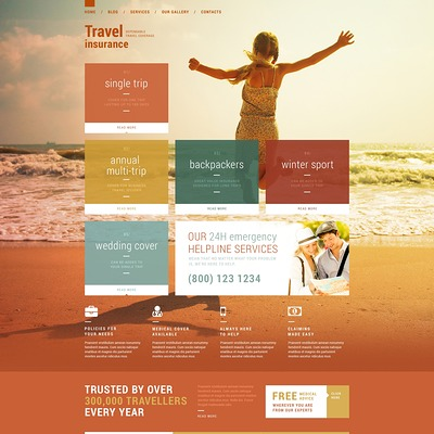 Vacation Security WordPress Theme (WordPress theme for insurance companies) Item Picture