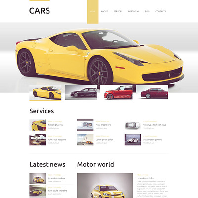Vehicles Business Drupal Template (Drupal theme for car, vehicle, and automotive websites) Item Picture