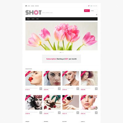 Visual Content PrestaShop Theme (PrestaShop theme for stock videos and images) Item Picture