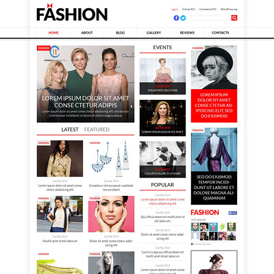World Fashion News Portal WordPress Theme (WordPress theme for fashion blogs) Item Picture