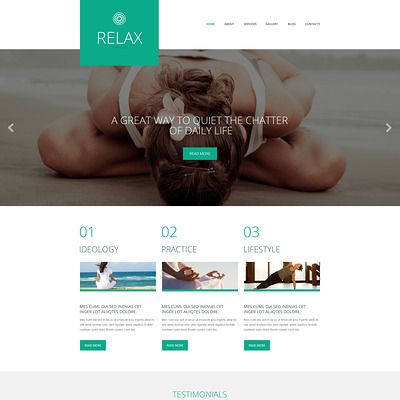 Yoga Responsive WordPress Theme (WordPress theme for gym and fitness) Item Picture