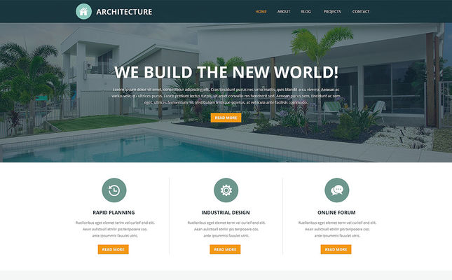 best joomla templates architecture feature