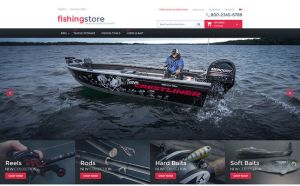 best magento themes fishing equipment feature