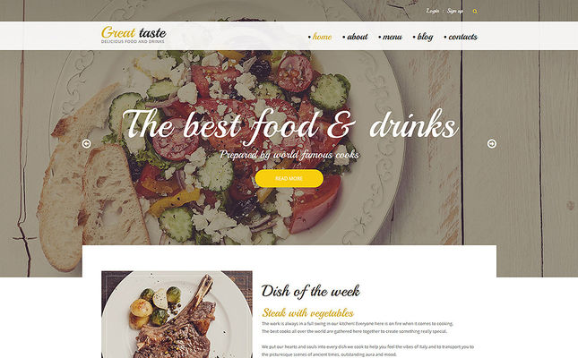 best restaurant drupal themes feature