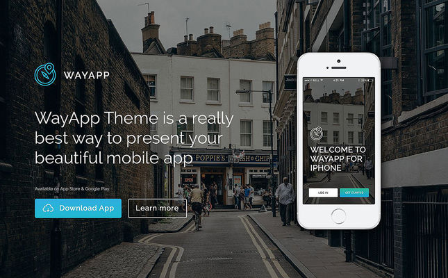 best wordpress themes promoting apps feature