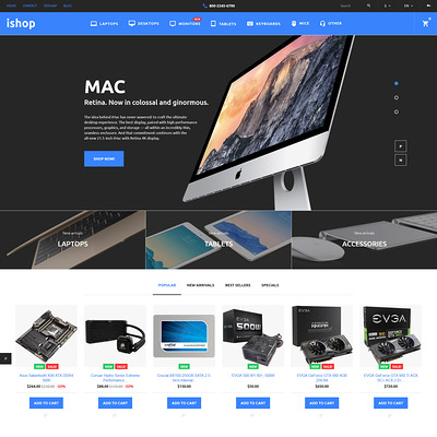 iShop (PrestaShop theme for electronics stores) Item Picture