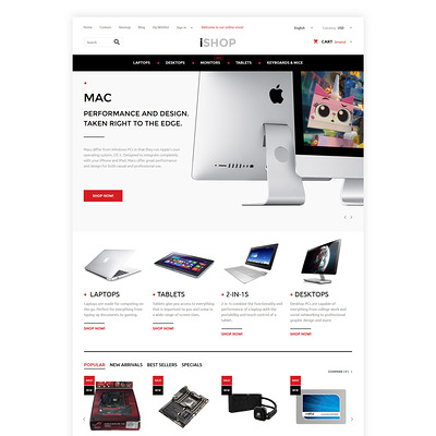 iShop PrestaShop Theme (PrestaShop theme for computer hardware stores) Item Picture