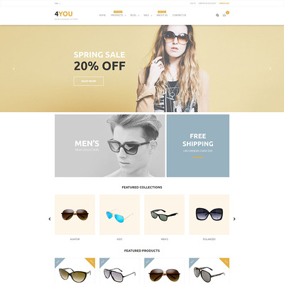 4You Shopify Theme (parallax Shopify theme) Item Picture