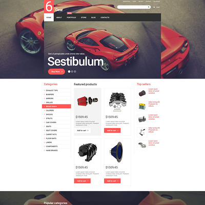 6 Gear WooCommerce Theme (WooCommerce theme for car, vehicle, and automotive stores) Item Picture