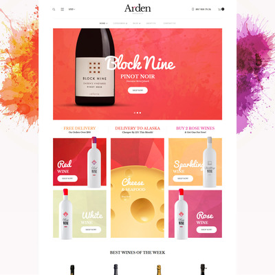 Arden (WooCommerce theme for selling wine) Item Picture