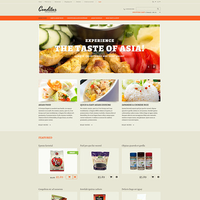 Asian Grocery Store OpenCart Template (OpenCart theme for selling food and spices) Item Picture