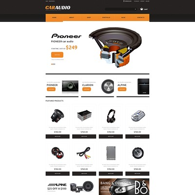 Car Audio Responsive WooCommerce Theme (WooCommerce theme for car, vehicle, and automotive stores) Item Picture