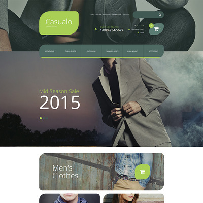 Casualo OpenCart Template (OpenCart theme for clothing stores) Item Picture