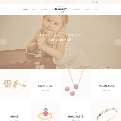 Children's Jewelry Store OpenCart Template (OpenCart theme for selling jewelry and watches) Item Picture