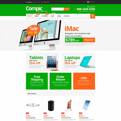 Computer Hardware Components WooCommerce Theme (WooCommerce theme selling computers and computer hardware) Item Picture