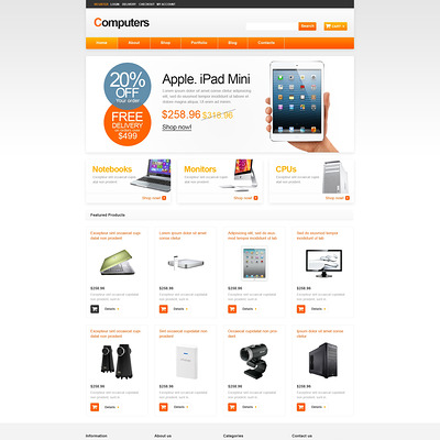 Computer Store Responsive WooCommerce Theme (WooCommerce theme selling computers and computer hardware) Item Picture
