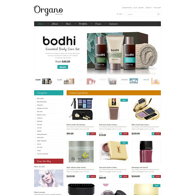 Cosmetics Store Responsive WooCommerce Theme (WooCommerce theme for selling perfumes, hair products, and cosmetics) Item Picture