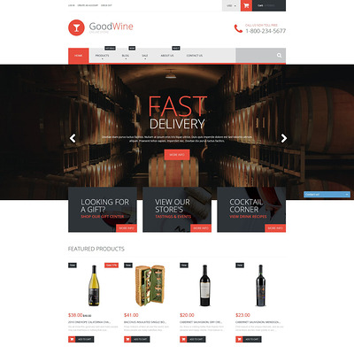 Excellent Wine Shopify Theme (parallax Shopify theme) Item Picture