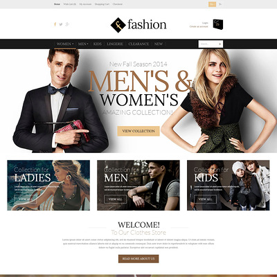 Fashion Board OpenCart Template (OpenCart theme for clothing stores) Item Picture