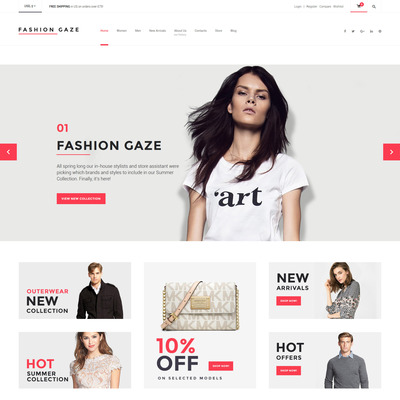 Fashion Gaze (WooCommerce theme for selling clothing for men and women) Item Picture