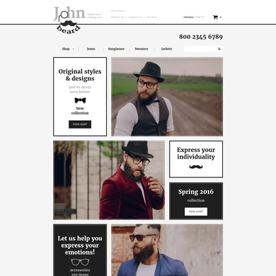 Fashion Store Responsive OpenCart Template (OpenCart theme for clothing stores) Item Picture