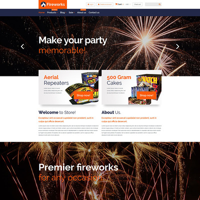 Fireworks Store Shopify Theme (parallax Shopify theme) Item Picture