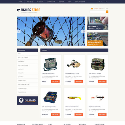 Fishing Responsive OpenCart Template (OpenCart theme for marine, yachting, fishing, and diving stores) Item Picture