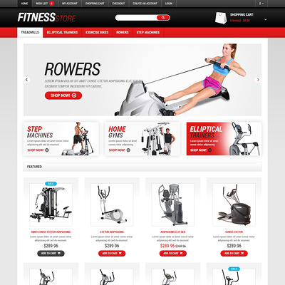 Fitness Responsive OpenCart Template (OpenCart theme for sports, gym, and fitness stores) Item Picture