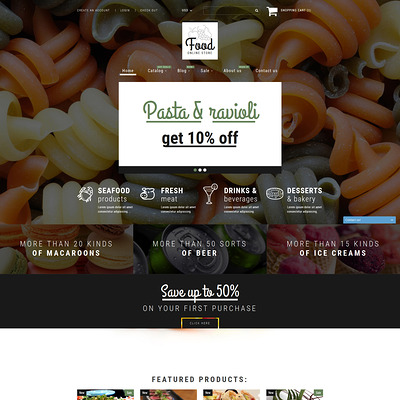 Food Shop Shopify Theme (parallax Shopify theme) Item Picture