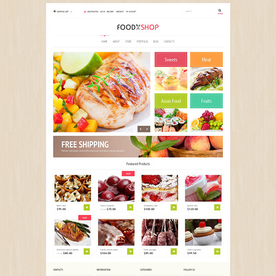 Food Store Responsive WooCommerce Theme (WooCommerce theme for selling food and spices) Item Picture