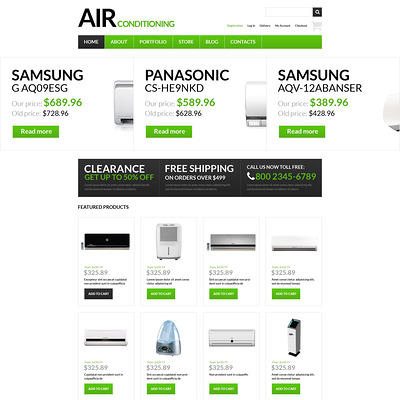 Fresh Air Supplier WooCommerce Theme (WooCommerce theme for home improvement and construction supplies) Item Picture