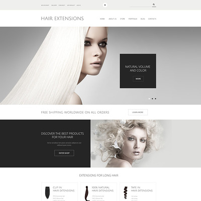Hair Extensions Salon WooCommerce Theme (WooCommerce theme for selling perfumes, hair products, and cosmetics) Item Picture