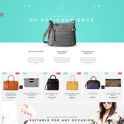 Handbag Boutique Shopify Theme (parallax Shopify theme) Item Picture