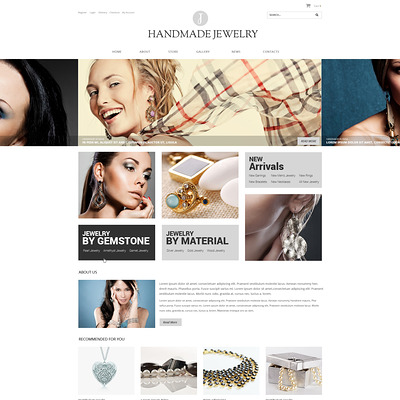 Handmade Jewelry WooCommerce Theme (WooCommerce theme for selling jewelry and watches) Item Picture
