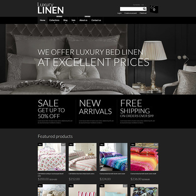 Home Decor Responsive Shopify Theme (parallax Shopify theme) Item Picture