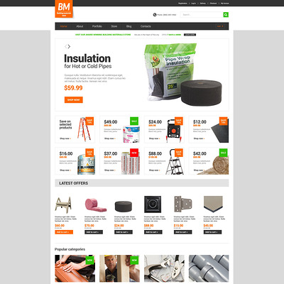 Home Repairs Responsive WooCommerce Theme (WooCommerce theme for home improvement and construction supplies) Item Picture