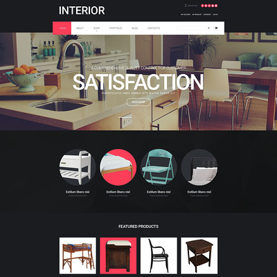 Interior Design WooCommerce Theme (WooCommerce theme for home decor and interior design stores) Item Picture