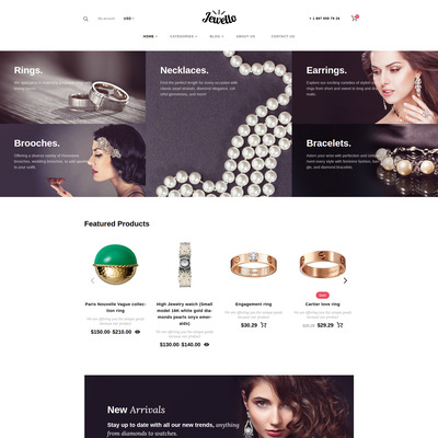 Jewellery Shop WooCommerce Theme (WooCommerce theme for selling jewelry and watches) Item Picture