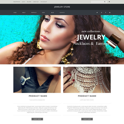 Jewelry Pieces WooCommerce Theme (WooCommerce theme for selling jewelry and watches) Item Picture