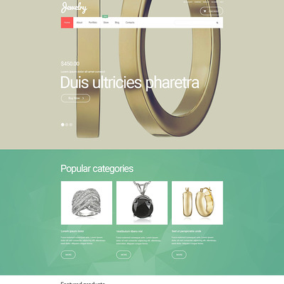 Jewelry WooCommerce Theme (WooCommerce theme for selling jewelry and watches) Item Picture