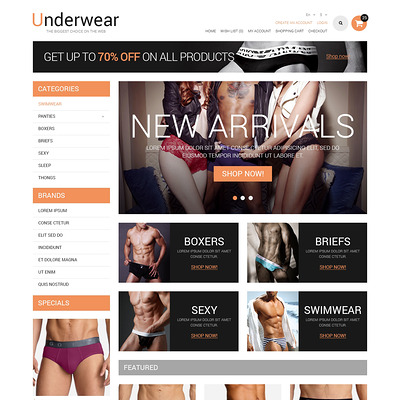 Lingerie Responsive OpenCart Template (OpenCart theme for selling lingerie and underwear) Item Picture