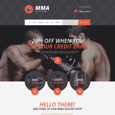 MMA Online Store WooCommerce Theme (WooCommerce theme for sports, gym, and fitness stores) Item Picture
