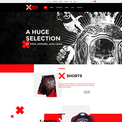MMA WooCommerce Theme (WooCommerce theme for sports, gym, and fitness stores) Item Picture