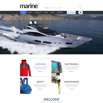 Marine Shop WooCommerce Theme (WooCommerce theme for marine, yachting, diving, and fishing stores) Item Picture