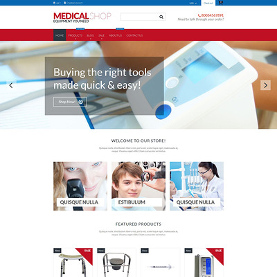 Medical Equipment Shopify Theme (parallax Shopify theme) Item Picture