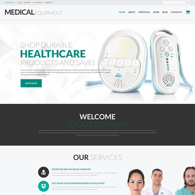 Medical Instruments WooCommerce Theme (WooCommerce theme for health and medical stores) Item Picture
