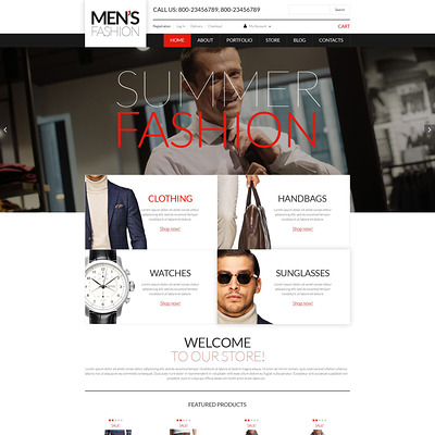 Men's Corporate Wear WooCommerce Theme (WooCommerce theme for selling clothing for men and women) Item Picture