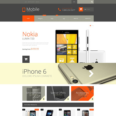 Mobile Phones Shopify Theme (parallax Shopify theme) Item Picture